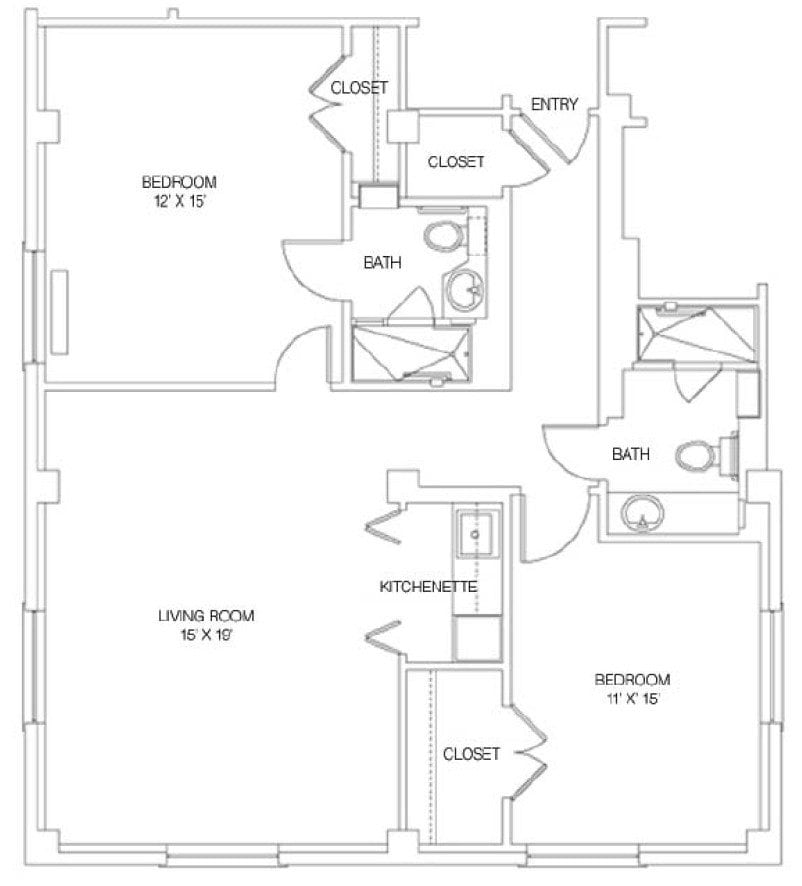Main Building - Two Bedroom