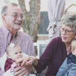 Grandparents playing with their grandkids in Monterey California